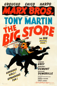 "The Big Store (MGM, 1941). Fine on Linen. One Sheet (27"" X 41"") Style C, Al Hirschfeld Artwork"