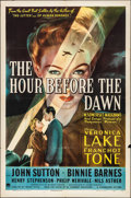 """Movie Posters:War, The Hour Before the Dawn (Paramount, 1944). Folded, Very Fine-. One Sheet (27"""" X 41""""). War.. ..."""