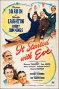 "Movie Posters:Comedy, It Started with Eve (Universal, 1941). Folded, Very Fine-. One Sheet (27"" X 41""). Comedy.. ..."