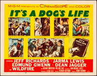 "It's a Dog's Life (MGM, 1955). Folded, Very Fine-. Half Sheets (2) (22"" X 28"") Styles A & B. Comedy..."