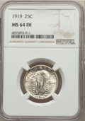 1919 25C MS64 Full Head NGC. NGC Census: (114/121). PCGS Population: (183/249). CDN: $800 Whsle. Bid for problem-free NG...