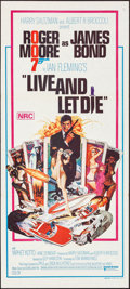 "Movie Posters:James Bond, Live and Let Die (United Artists, 1973). Folded, Very Fine+. Australian Daybill (13.5"" X 30""). Robert McGinnis Artwork. Jame..."