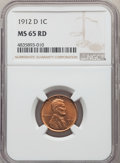 1912-D 1C MS65 Red NGC. NGC Census: (32/4). PCGS Population: (118/33). CDN: $850 Whsle. Bid for problem-free NGC/PCGS MS...