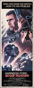 """Movie Posters:Science Fiction, Blade Runner (Warner Brothers, 1982). Rolled, Fine+. Insert (14"""" X 36""""). John Alvin Artwork. Science Fiction.. ..."""