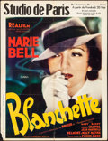"""Movie Posters:Foreign, Blanchette (Real Film, 1937). Folded, Fine+. Pre-War Belgian (24"""" X 33""""). Foreign.. ..."""