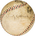 Autographs:Baseballs, 1923 Christy Mathewson Single Signed Baseball from Braves Opening Day....