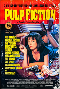 "Pulp Fiction (Miramax, 1994). Rolled, Very Fine+. One Sheet (27"" X 40"") SS. Crime"
