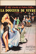 """Movie Posters:Foreign, La Dolce Vita (Consortium Pathé, 1960). Folded, Very Fine. French Petite (15.75"""" X 23.5"""") Yves Thos Artwork. Foreign.. ..."""