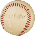 Autographs:Baseballs, 1941-42 Mel Ott Single Signed Baseball, PSA/DNA EX-MT 6. ...