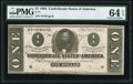 Confederate Notes:1864 Issues, T71 $1 1864 PF-8 Cr. 572 PMG Choice Uncirculated 64 EPQ.. ...