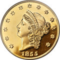 """(2001) $50 SSCA Relic Gold Medal """"1855 Kellogg & Co. Fifty"""" Gem Proof PCGS....(PCGS# 10358)"""