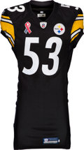 Football Collectibles:Uniforms, 2011 Maurkice Pouncey Worn & Signed Pittsburgh Steelers Jersey - Used 9/11 vs. Ravens (9/11 Memorial Patch)! ...