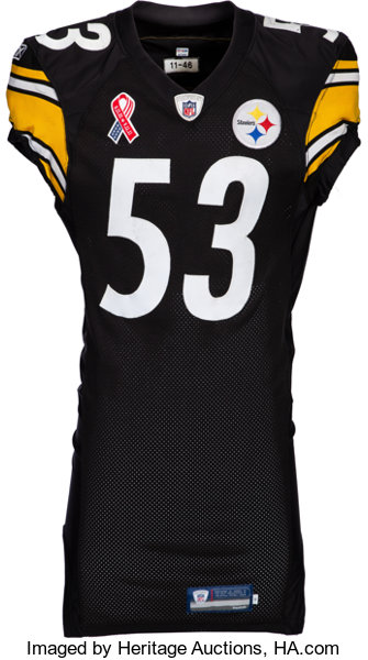 finest selection 377f6 1c06b 2011 Maurkice Pouncey Worn & Signed Pittsburgh Steelers Jersey - Used 9/11  vs. Ravens (9/11 Memorial Patch)! ...