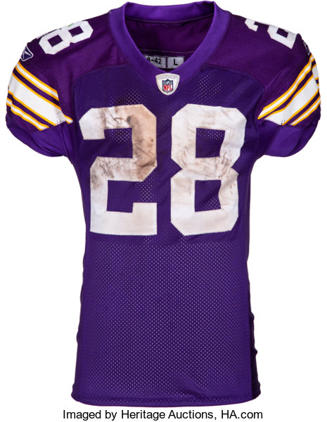 get cheap d6964 0e2d1 2009 Adrian Peterson Game Worn, Unwashed Minnesota Vikings Jersey - Photo  Matched 10/5 vs. Packers....