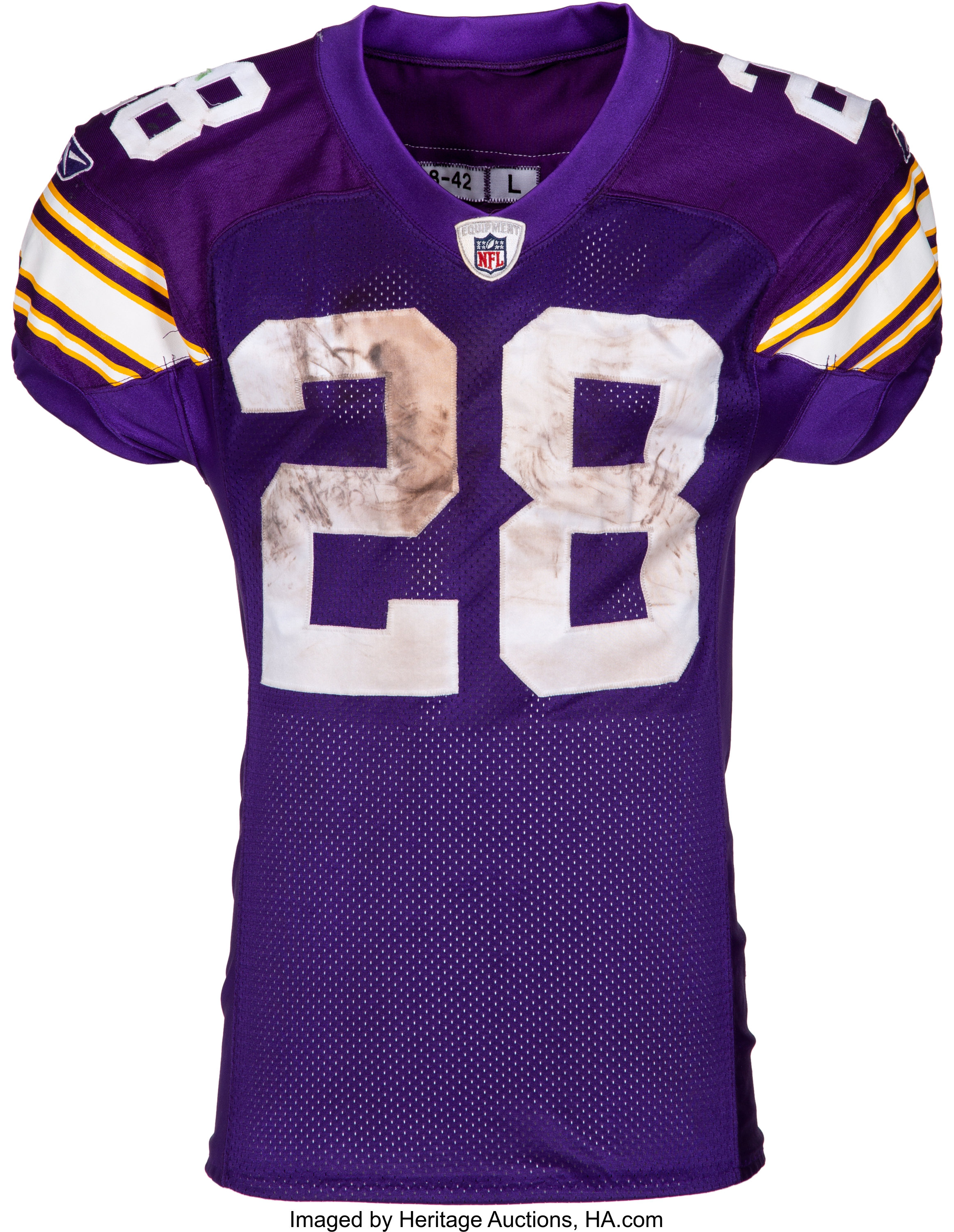huge discount 02682 67162 2009 Adrian Peterson Game Worn, Unwashed Minnesota Vikings Jersey -   Lot  #53082   Heritage Auctions