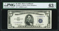 Small Size:Silver Certificates, Fr. 1655* $5 1953 Silver Certificate Star. PMG Choice Uncirculated 63 EPQ.. ...