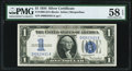 Small Size:Silver Certificates, Fr. 1606 $1 1934 Silver Certificate. PMG Choice About Unc 58 EPQ.. ...