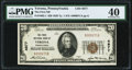 National Bank Notes:Pennsylvania, Verona, PA - $20 1929 Ty. 1 The First National Bank Ch. # 4877 PMG Extremely Fine 40.. ...