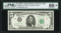 Fr. 1968-H* $5 1963A Federal Reserve Star Note. PMG Gem Uncirculated 66 EPQ*