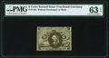 Fractional Currency:Second Issue, Fr. 1232 5¢ Second Issue PMG Choice Uncirculated 63 EPQ.. ...