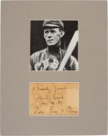 Baseball Collectibles:Others, 1937 Johnny Evers Signed Cut Signature with Great Notation....