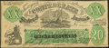 Confederate Notes:1861 Issues, XX-1/C2 $20 1861 Female Riding Deer Bogus Note with Back H Very Fine.. ...