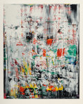 Fine Art - Work on Paper:Print, Gerhard Richter (b. 1932). Eis 2, 2003. Screenprint in colors on heavy rag paper. 40 x 31-7/8 inches (101.6 x 81 cm) (im...