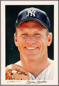 Baseball Collectibles:Photos, Early 1990's Mickey Mantle Signed UDA Large Photograph...