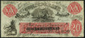 Confederate Notes:1861 Issues, XX1/C1 $20 1861 Female Riding Deer Bogus Note - Back F Fine-Very Fine.. ...