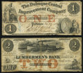 Obsoletes By State:Iowa, Dubuque, IA- Dubuque Central Improvement Company $1 Dec. 23, 1857 Very Good-Fine;. Dubuque, IA- E.L. Fuller at Lumberm... (Total: 2 notes)