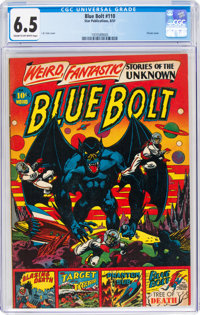 Blue Bolt #110 (Star Publications, 1951) CGC FN+ 6.5 Cream to off-white pages