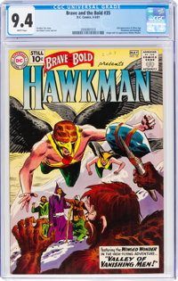 The Brave and the Bold #35 Hawkman (DC, 1961) CGC NM 9.4 White pages
