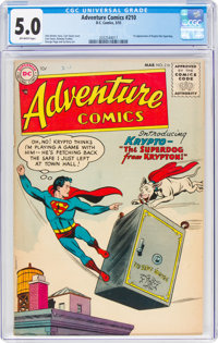 Adventure Comics #210 (DC, 1955) CGC VG/FN 5.0 Off-white pages