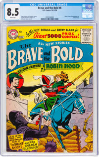 The Brave and the Bold #8 (DC, 1956) CGC VF+ 8.5 White pages