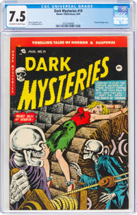 Dark Mysteries #19 (Master Publications, 1954) CGC VF- 7.5 Off-white to white pages