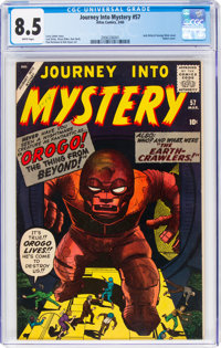 Journey Into Mystery #57 (Marvel, 1960) CGC VF+ 8.5 White pages