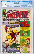 Silver Age (1956-1969):Superhero, Daredevil #1 (Marvel, 1964) CGC VF- 7.5 Off-white to white pages....