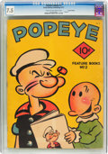 Platinum Age (1897-1937):Miscellaneous, Feature Books #2 Popeye - Central Valley Pedigree (David McKay Publications, 1937) CGC VF- 7.5 Cream to off-white pages....