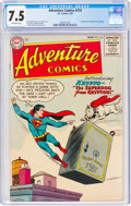 Golden Age (1938-1955):Superhero, Adventure Comics #210 (DC, 1955) CGC VF- 7.5 Off-white pages....