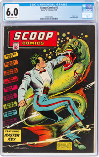 Scoop Comics #2 (Chesler, 1942) CGC FN 6.0 Slightly brittle pages