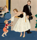 Fine Art - Painting, American, Amos Sewell (American, 1901-1983). Family Scene, The Saturday Evening Post cover, September 27, 1957. Oil on board. 36 x...