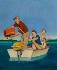 Amos Sewell (American, 1901-1983) Row, We're Out of Gas, The Saturday Evening Post cover, June 27, 1959