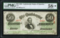 Confederate Notes:1863 Issues, T57 $50 1863 PF-8 Cr. 414 PMG Choice About Unc 58 EPQ*.. ...