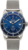 Timepieces:Wristwatch, Breitling, SuperOcean Heritage 38 Chronometer, Stainless Steel, Ref. A37320, Circa 2010. ...