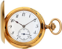 Perrenoud Fils & Cie, Le Locle, Rare 18k Gold Carillon Grande Sonnerie Minute Repeating Clockwatch, Circa 1910...
