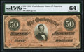 Confederate Notes:1864 Issues, T66 $50 1864 PF-8 Cr. 499 PMG Choice Uncirculated 64 EPQ.. ...