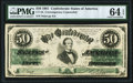 Confederate Notes:1861 Issues, CT16/86B $50 1861 Counterfeit PMG Choice Uncirculated 64 EPQ.. ...