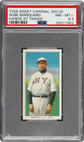 Baseball Cards:Singles (Pre-1930), 1909-11 T206 Sweet Caporal 350/25 Rube Marquard (Hands at Thighs) PSA NM-MT+ 8.5 - Pop One, Three Higher. ...