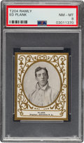 Baseball Cards:Singles (Pre-1930), 1909 T204 Ramly Ed Plank PSA NM-MT 8 - Pop Two, None Higher. ...