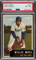 Baseball Cards:Singles (1950-1959), 1953 Topps Willie Mays #244 PSA NM-MT 8....